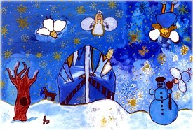 Zimná krajina anjelov